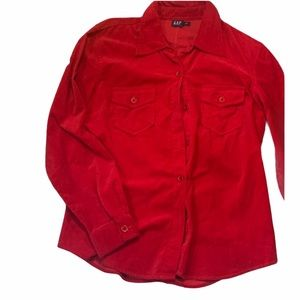 BOGO Free🌻GAP Button up blouse suede look